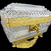 """SALE Magnificent Antique Baccarat Crystal Casket """"GRANDEST RARE SHAPE"""""""