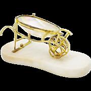 SALE Palais Royal Mother of Pearl Wheel Barrow Cart.