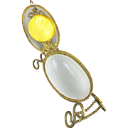"Palais Royal Opaline Watch Holder Hinged Box ""EGG  SHAPE"""