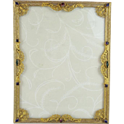 SALE Beautiful Antique Jeweled  Table Top Frame