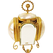 """Glorious Palais Royal Mother of Pearl Scent Casket """" TWO SCENT BOTTLES"""""""