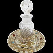 SALE Antique Austrian Jeweled Enamel Perfume.