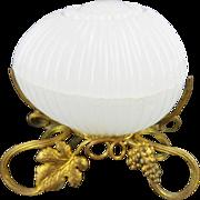 "SALE Palais Royal Baccarat White Opaline Box ""BEAUTIFUL"""