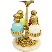 """SOLD LAYAWAY Palais Royal Scent Caddy w Four Bottles """"RARE & WONDERFUL"""""""