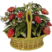 "Jane Hutcheson Jeweled Strawberry Basket ""RARE SMALL SIZE"""