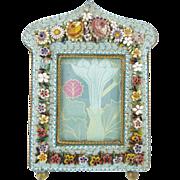 "SALE Antique Italian Micromosaic Frame "" RARE SHAPE"""