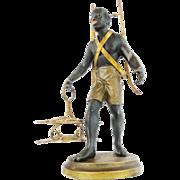 "SOLD 10 ½"" Antique French Blackamoor Figure, Figural Decanter Set ""NO GLASS SET"""