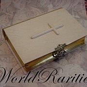 """SOLD Antique French Dieppe Ivory Covered Missal or Prayer Book """" Cross on the Cover and O"""