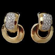 SALE Grandest 14Karat Diamond Door Knocker Earring