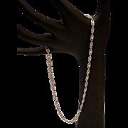 """SOLD LAYAWAY  14Karat White Gold Diamond Filagree 15"""" Necklace"""