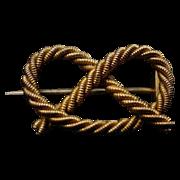 SALE Antique 9Karat Gold Knot Broach