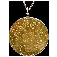 LAYAWAY  1915 Austrian Ducat Gold Coin Bezel Set Pendant