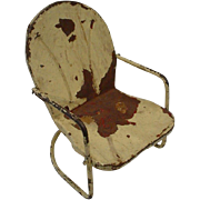 SALE Adorable  Shabby Chic Metal Rocking Doll Chair
