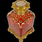 SALE Fabulous Grand Tour Ruby Scent Bottle Miniature Top