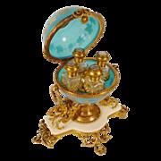 """SOLD BIG Palais Royal Blue Opaline Scent Casket """"MERMAIDS"""""""