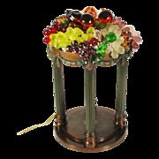 SALE Magnificent Antique Glass Fruit Lamps