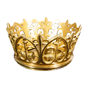 SALE Antique French Bronze Crown