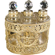 SOLD Large Antique French Empire Style Scent Caddy