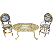 """SALE Grand Tour Spa """"GT. Yarmouth"""" Souvenir Miniature Table and Two Chairs"""