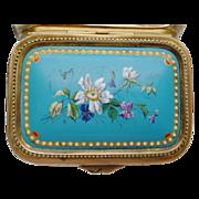 SOLD Beautiful Antique Sevres Enamel Casket Hinged Box