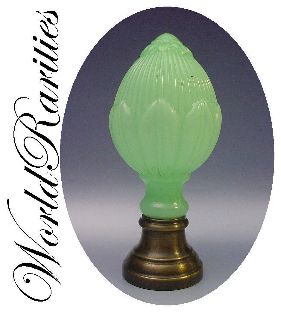 Antique French Green Opaline And Bronze Newel Post Boule D 39 Escalier From Worldrarities On Ruby Lane