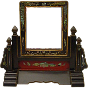 """SALE Antique Chinese Table Vanity Mirror """"RARE"""""""