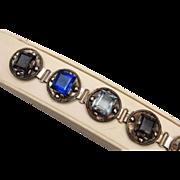SALE Silver Mexico and Multi Colored Rhinestone Bracelet