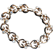 SALE Crown Trifari Patent Pending Bracelet