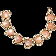 Coro Light Pink Thermoset Bracelet
