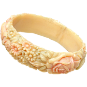 "SALE Pastel Celluloid Bangle Bracelet - 3/4"" Wide"