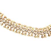 SALE Sarah Coventry Faux Pearl and Rhinestone Bracelet