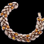 SALE 1950 Trifari Topaz Stone Bracelet