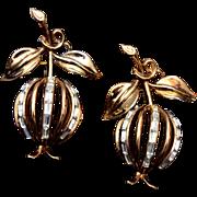 SALE Trifari 1950 Patent Pending 2 Forbidden Fruit Brooches