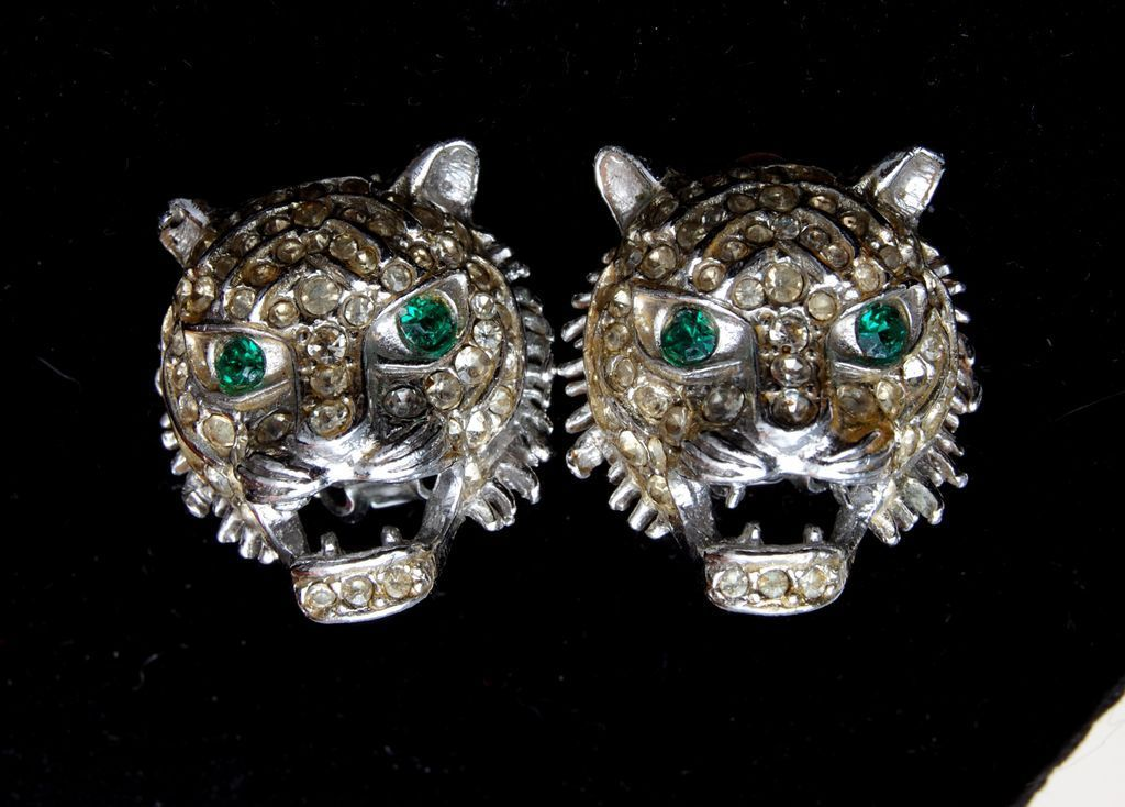 Kenneth Lane Tiger Earrings