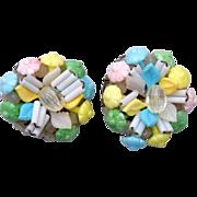 SALE Made in Germany Glass Pastel Earrings