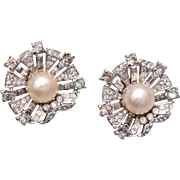 SALE 1947 Trifari Sterling Dream Shell Earrings