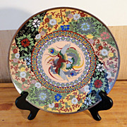 SALE Antique Japanese Cloisonné Obi Sash Pattern Charger – circa 1880