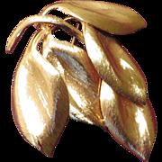 SALE Henkel Grosse Leaves Brooch - 1960