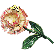 SALE Wonderful Sandor Floral Brooch with Butterfly