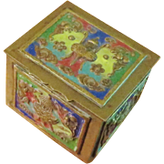 Chinese Export Enamel Stamp Box - 1910