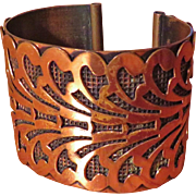 Wide Copper Cuff Bracelet