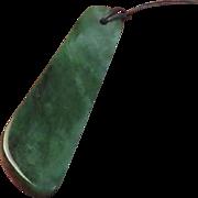 """Vintage Jade Pendant - over 3"""""""