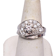 14kt White Gold Ring 8-1/4 - With Appraisal