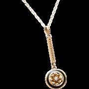 14kt Enameled Gold and Diamond Pendant