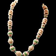 SALE Fabulous Vintage Molded Glass Necklace