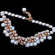 SALE Florenza Blue Lucite Dangle Necklace