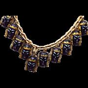 SALE Selro Black Faced Asian Princess Necklace