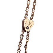 SALE Heart Shaped Gold Filled Slide Necklace