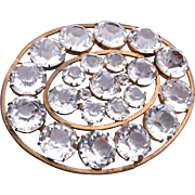 Unfoiled Open Backed Crystal Brooch