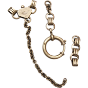 SALE Silver Patented Watch Chain